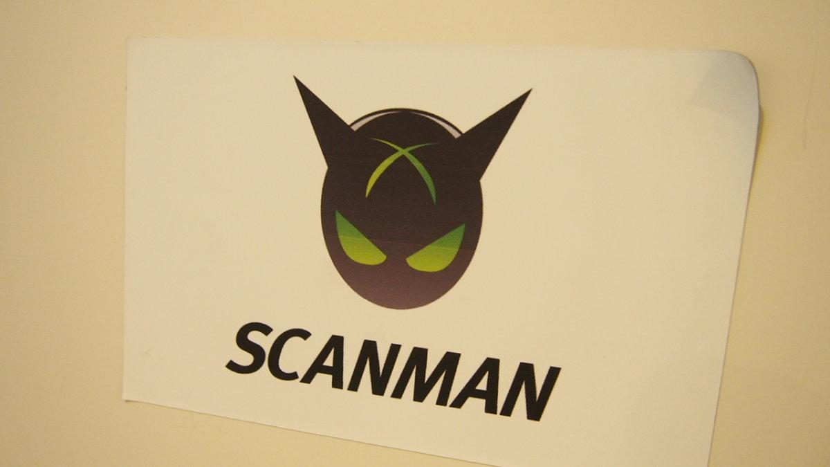 スキャンマン scanman ロゴ