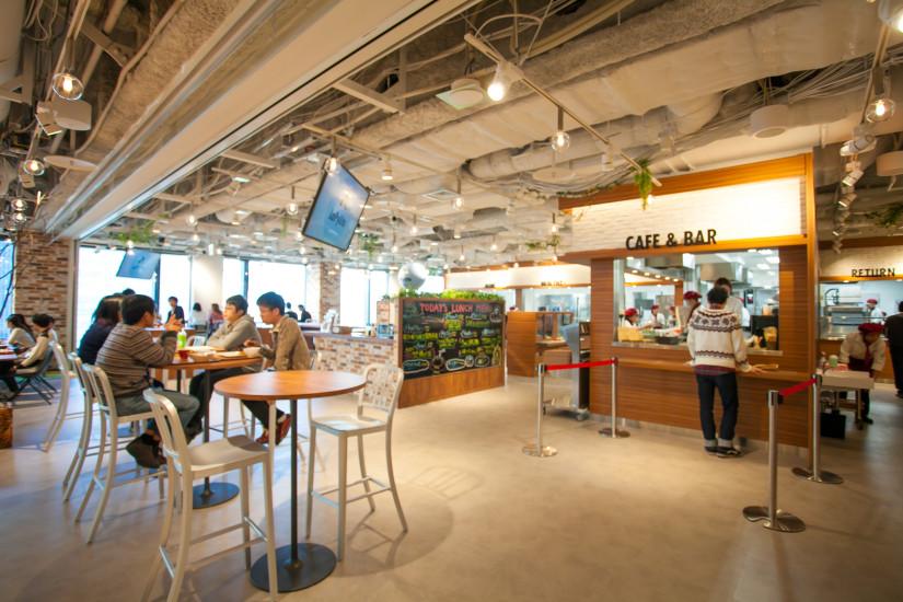 エイチーム_本社オフィス社員食堂1